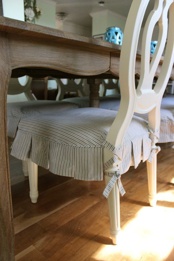 Ballerina Tie Dining Chair Slipcovers By Shelley Slipcovers