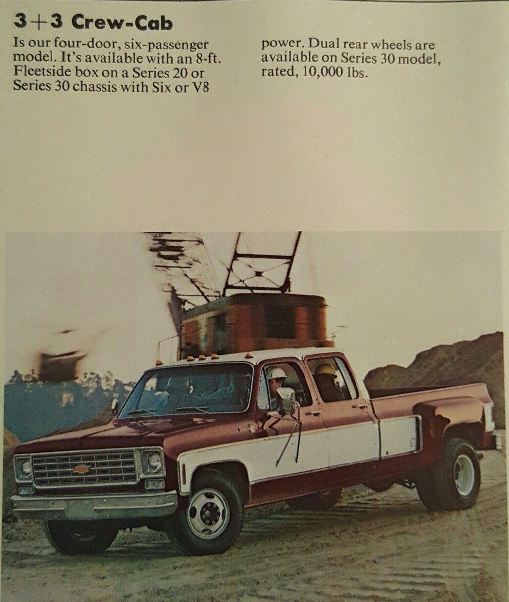 1980 Chevy Truck Van 1080 Wiring Diagrams Original Manual Factory 1976 Chevrolet G20 Diagram 1975 C30 3 Crew Cab Pickup Trucks Rh Pinterest Com