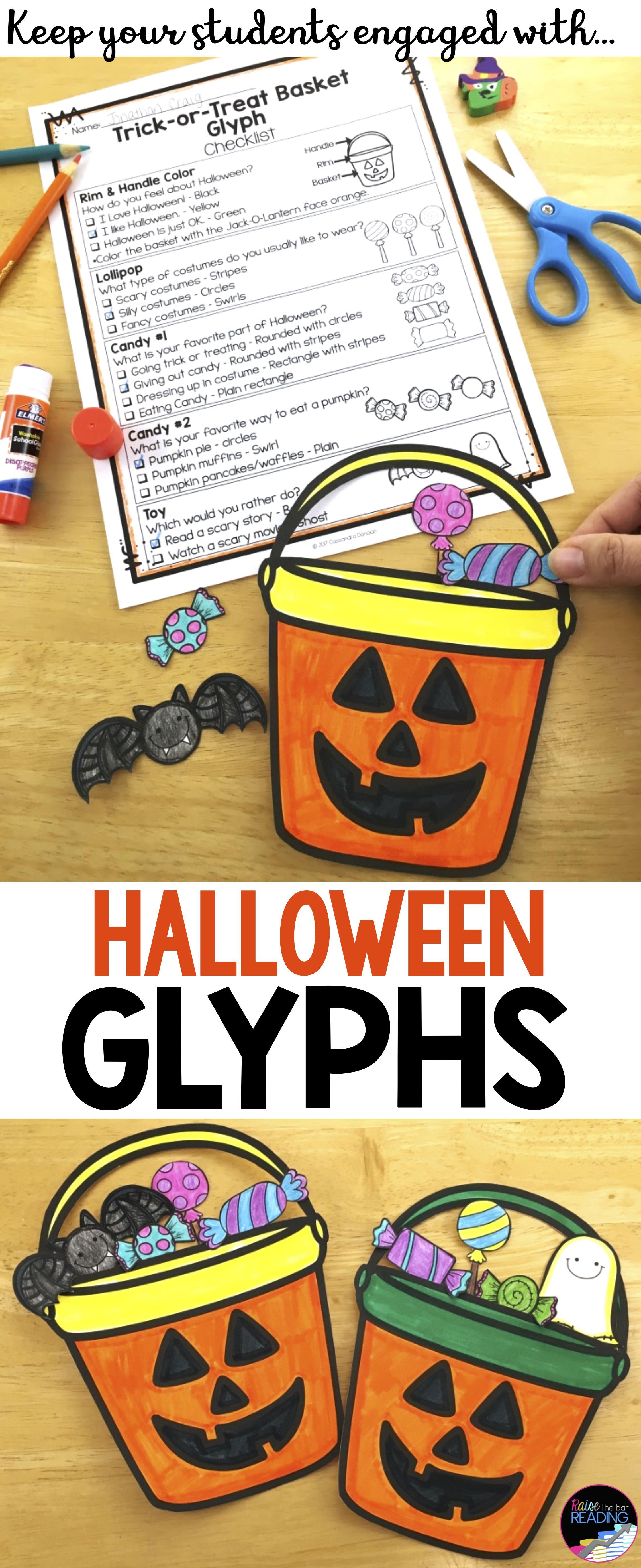 Halloween Activities And Glyphs Halloween Crafts