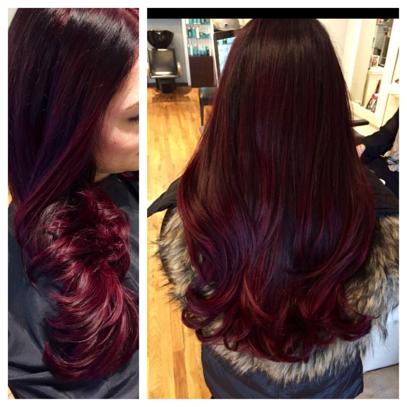 Merlot hair color - Raspberry Merlot Perfect Color For The Holidays Raspberrymerlot Merlot