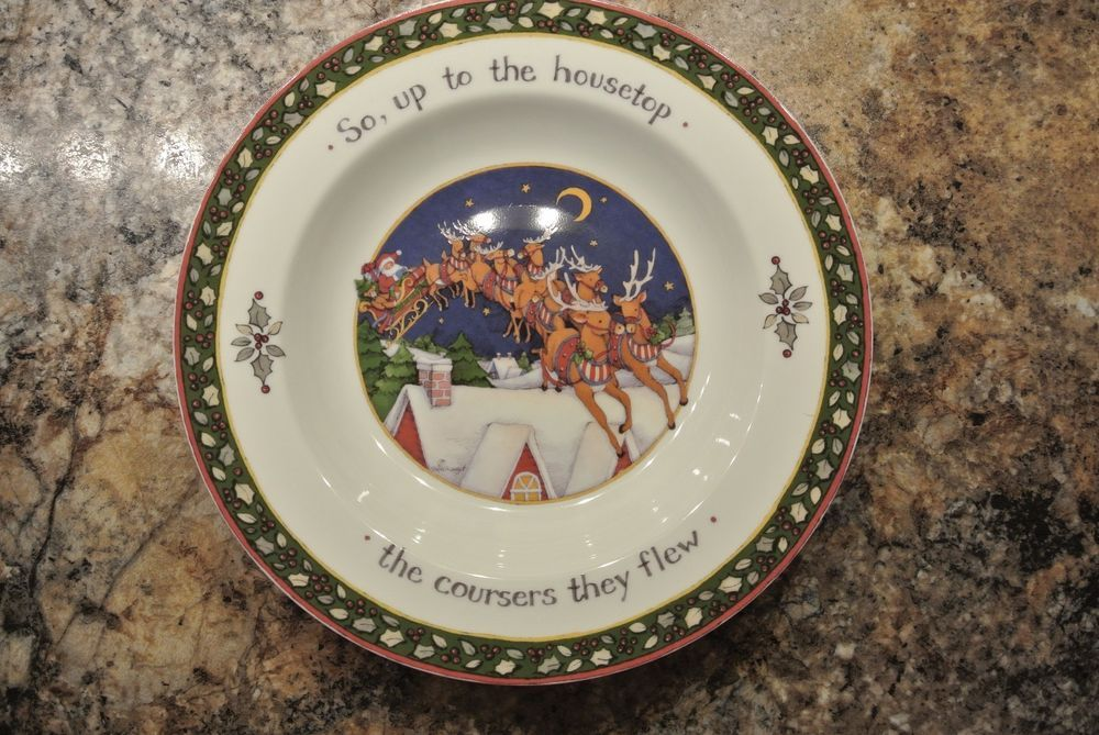 Susan Winget A Christmas Story Chrismas Dishes 9 1/4\