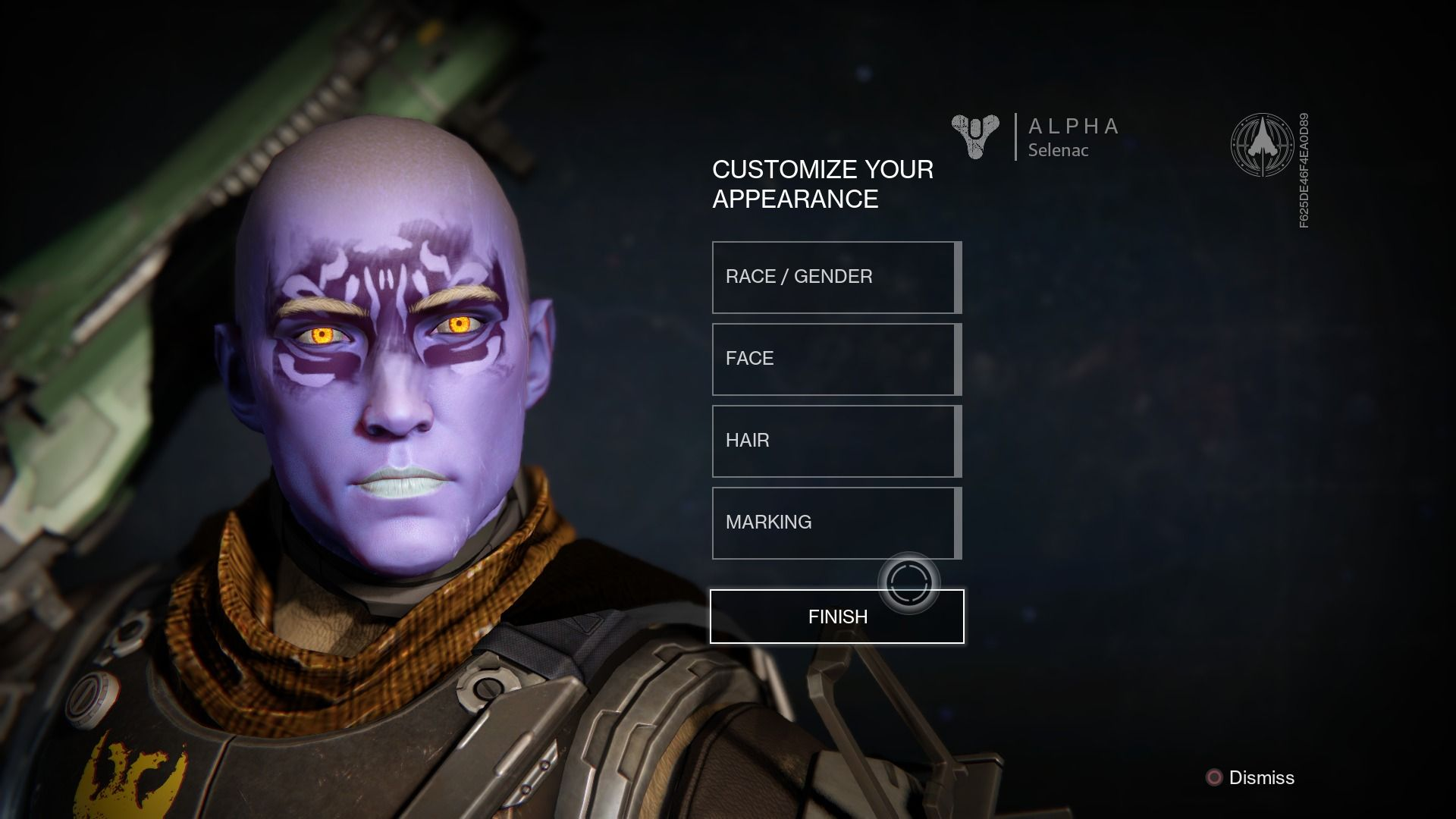 Character customisation for the Awoken male in Destiny ...