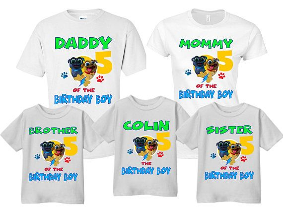 Puppy Dog Pals Birthday Shirts Mom Dad Sister Brother Of Boy Customized Disney Palse