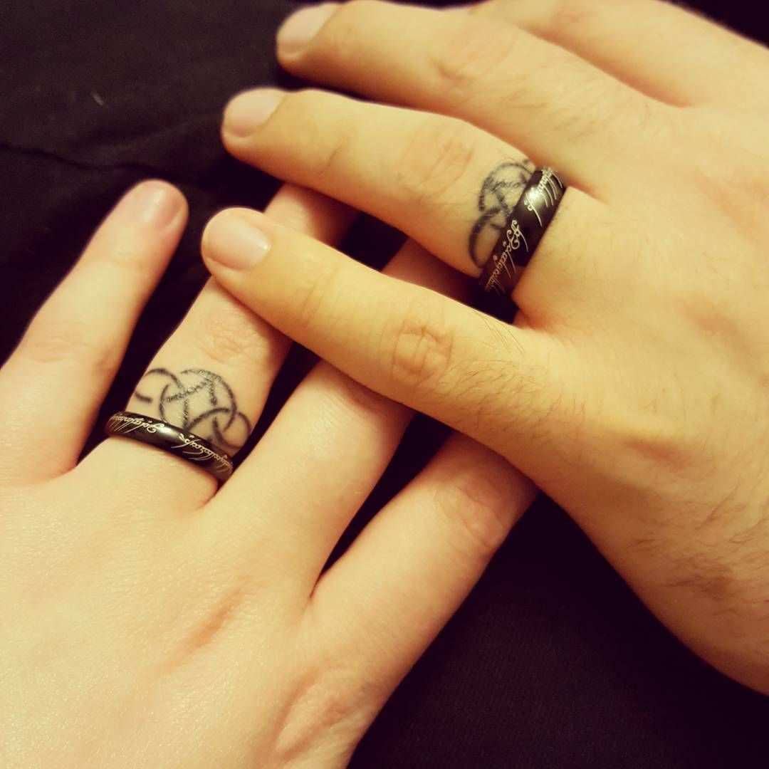 Beautiful Wedding Ring Tattoos: Wedding Ring Tattoos Ideas To Try For Special Day