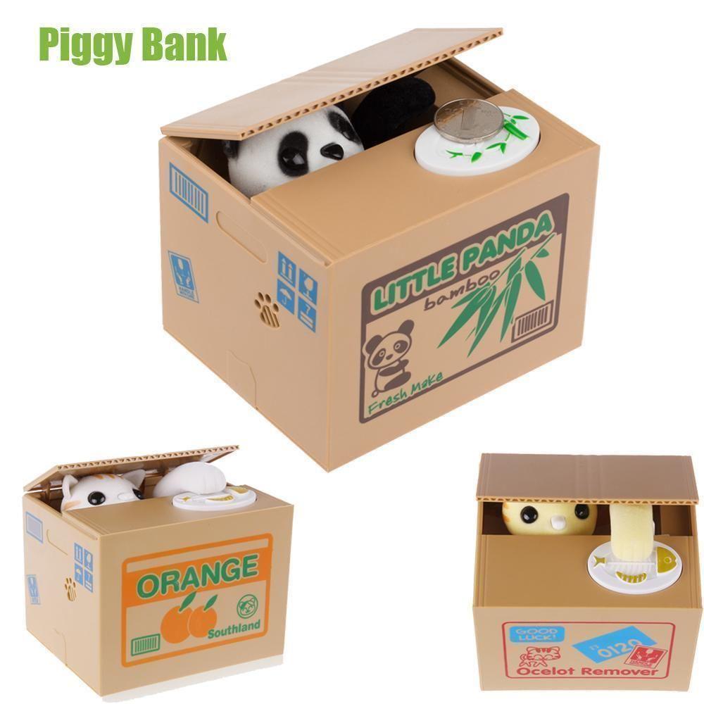 Panda Kitten Coin Bank Money Saving Box
