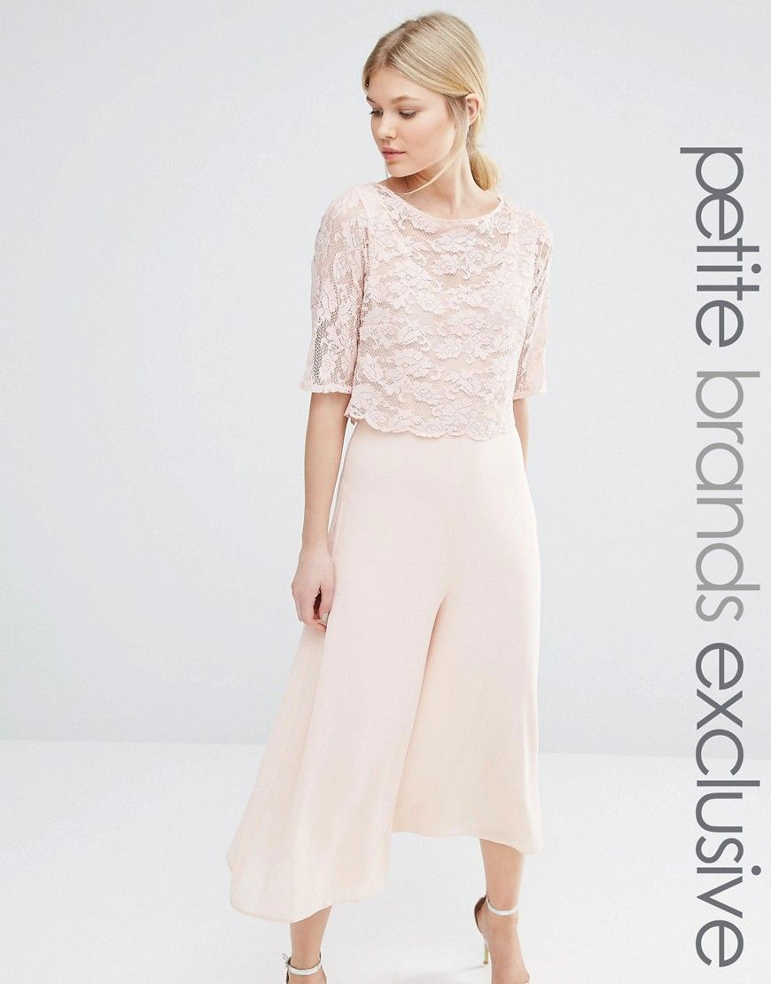 8fb68c36e8 John+Zack+Petite+Culottes+Jumpsuit+With+Lace+Bodice+And+Sleeves ...