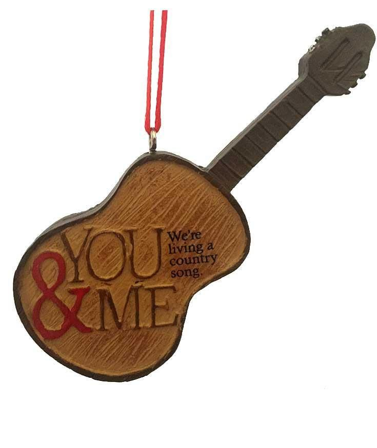 Western Christmas Ornament  Country Music Guitar  Western