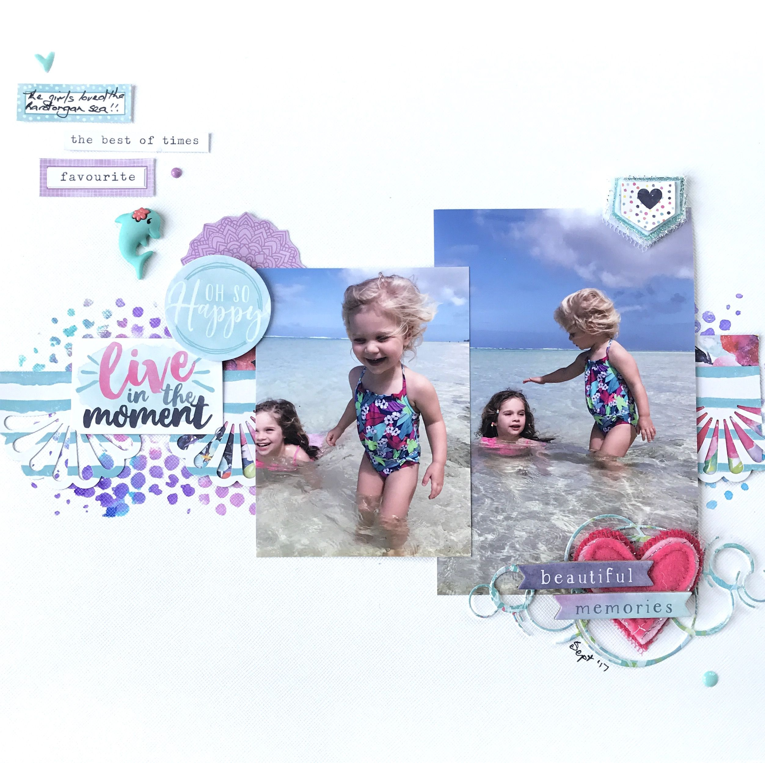 Layout for SBT50 using the Cocoa Vanilla Bohemian Dream and a Charm's Creations heart
