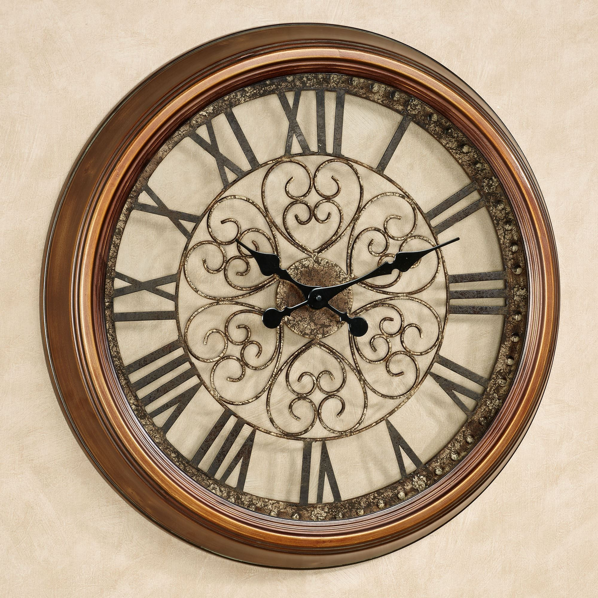 Cassia Antique Bronze Metal Wall Clock Wall Clock Metal Wall Clock Clock