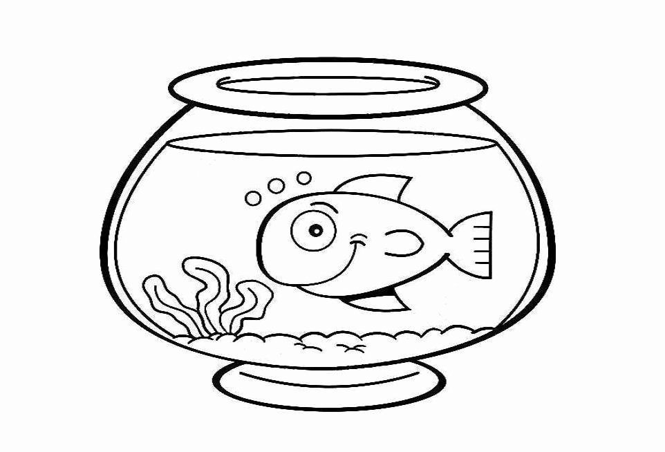 Fish Bowl Coloring Page New Fish Bowl Template Cliparts Frozen Coloring Pages Fish Coloring Page Bee Coloring Pages
