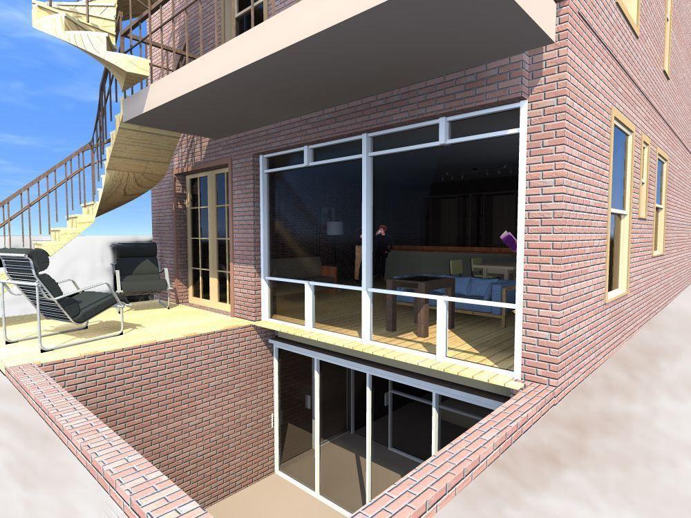 Creuser l 39 arri re d 39 un quadriplex pour ouvrir un sous for Architecture anglaise