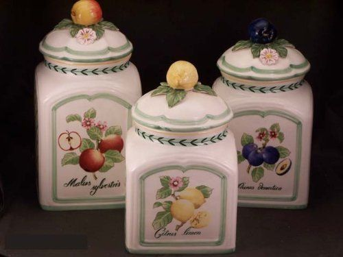 Villeroy Boch French Garden Fleurence 3 Piece Canister Set By