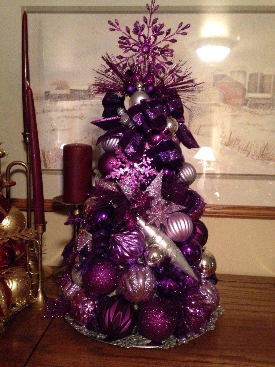 purple more beautiful christmas trees small - Small Purple Christmas Tree