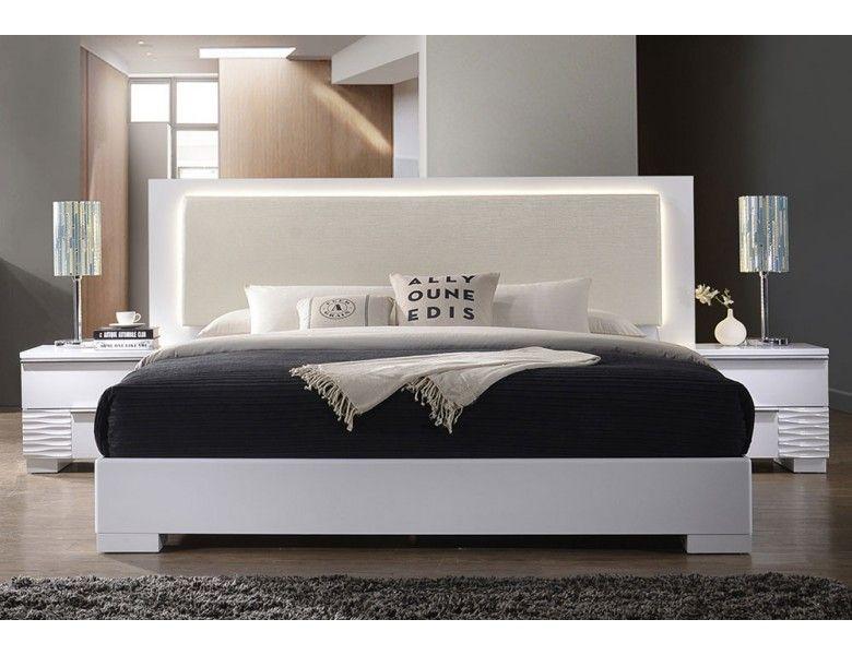 London Modern Platform Bed With Lights Best Master Furniture Modern Platform Bed White Panel Beds