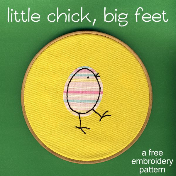 Free easter embroidery pattern little chick with big feet heres a super simple easter embroidery pattern easy enough for even the littlest kids to dt1010fo
