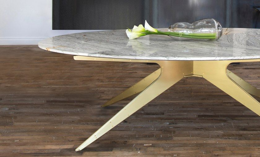 Tavolo ovale in marmo nel 2020 | Tavoli da pranzo ovali ...
