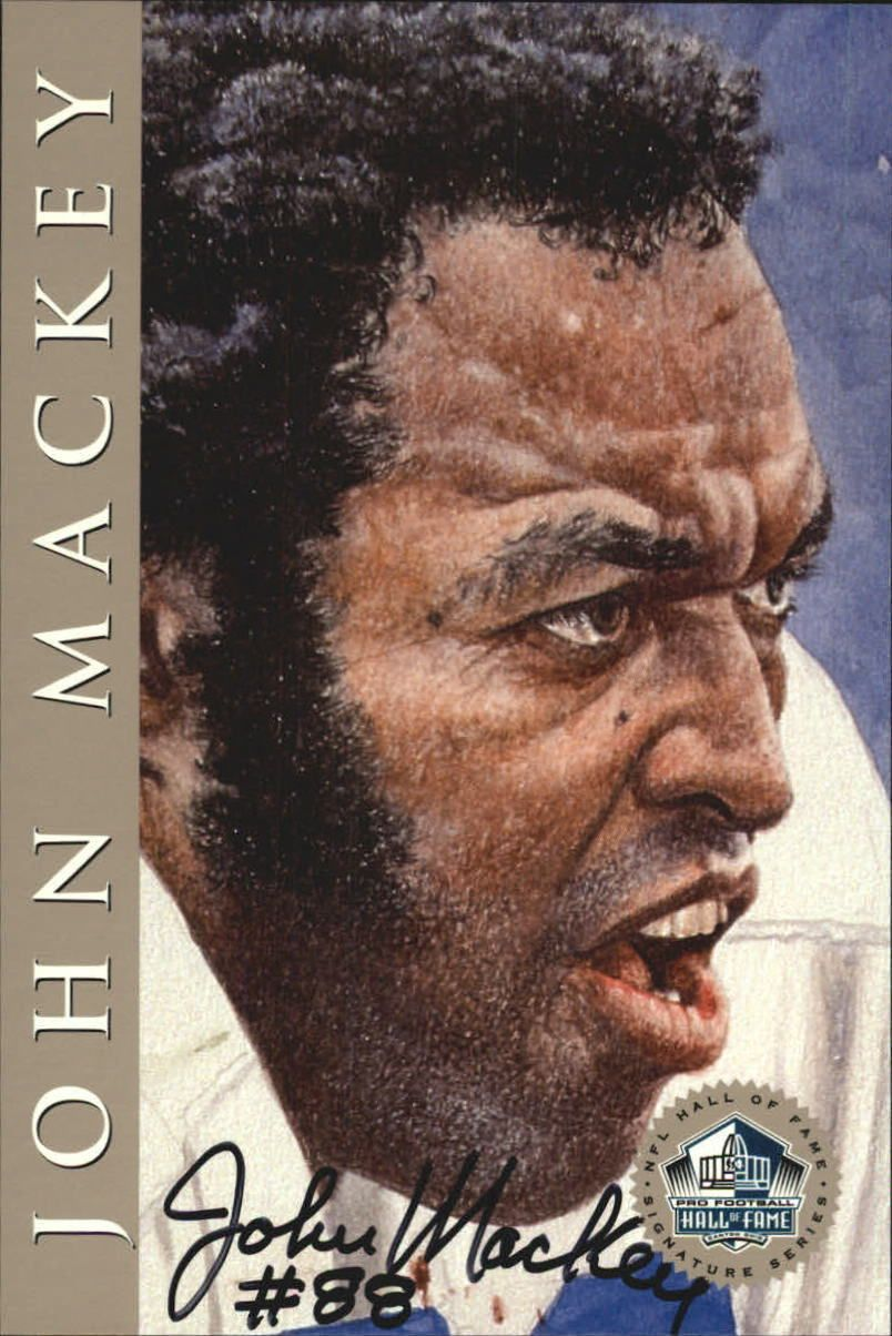 1998 Ron Mix HOF Platinum AutographsNNO John Mackey Chargers  /2500 O11167 in Sports Mem, Cards & Fan Shop, Cards, Football   eBay