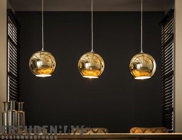 3er Set Pendel Lampen Esszimmer Küchen Strahler Rauch Glas Hänge Leuchten Chrom