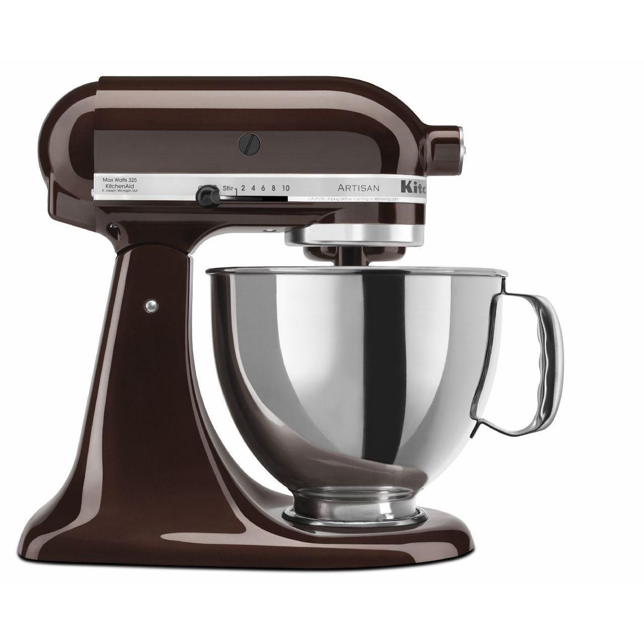 Kitchenaid Ksm150pses Espresso Brown 5 Quart Artisantilt Head