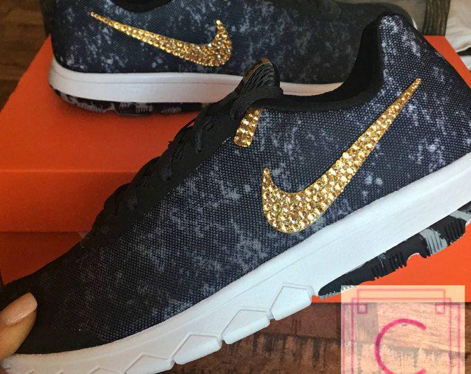 Womens Bling Nike Flex Experience RN 6 ~Custom Shoes~Crystahhled~Nike  Swarovski~Nike Glitter Kicks~Swarovski Nike~Bling Nikes~Bling sneakers 934e61925