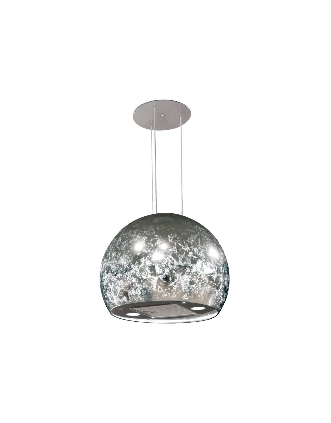 50cm chandelier island cooker hood silver finish spherical cooker 50cm chandelier island cooker hood silver finish spherical cooker hood myappliances arubaitofo Choice Image