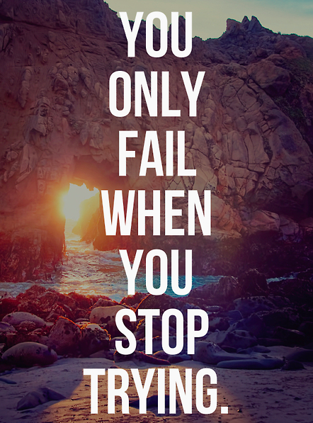 Trying Quotes Beauteous You Only Fail When You Stop Trying  Quotes  Pinterest