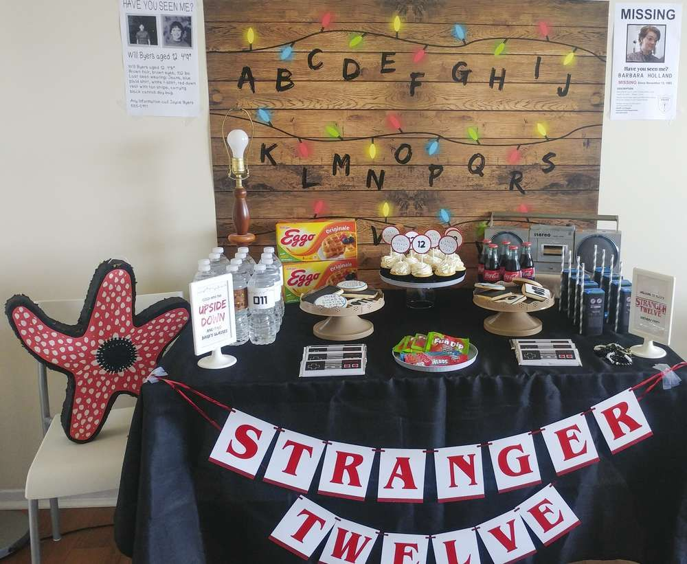 Stranger Things Birthday Party Ideas Photo 4 Of 44 Stranger Things Halloween Stranger Things Halloween Party Stranger Things