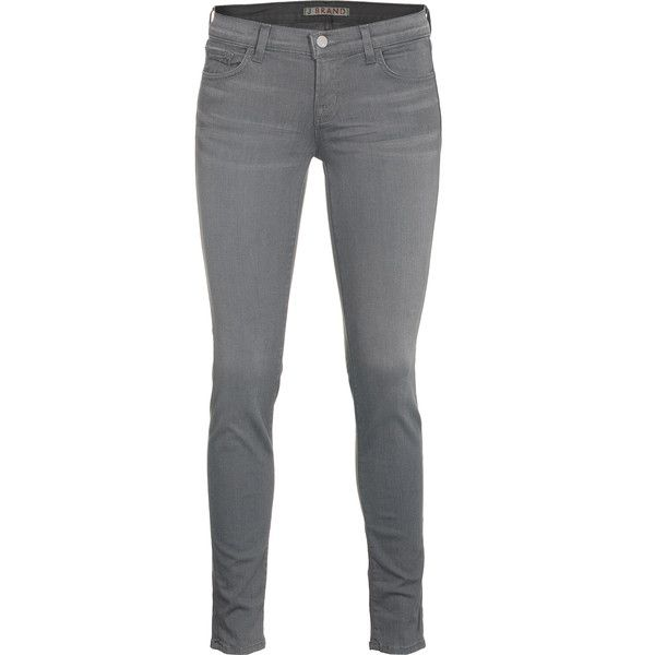 J Brand 910 Skinny Leg Wink Low Rise Skinny Jeans (€269) ❤ liked on Polyvore featuring jeans, pants, bottoms, pantalones, calças, grey skinny jeans, skinny jeans, green jeans, gray skinny jeans and slim fit jeans