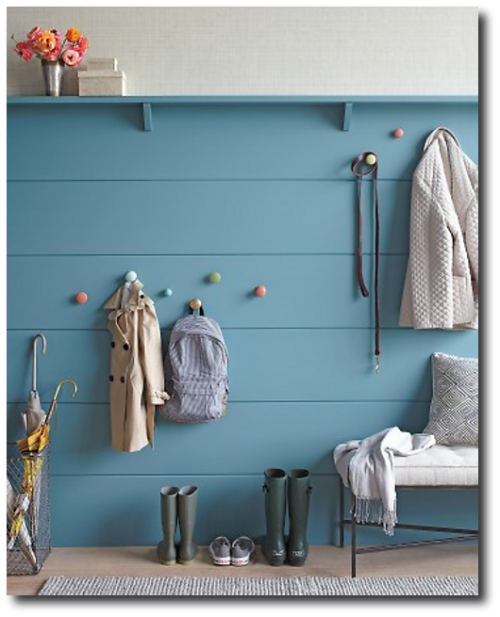 Decorative Ideas For Entryway Organization: Color In The Mud Room! A Nice And Cheerful Thing To See