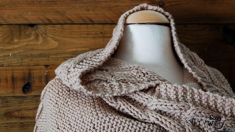 Teje una Bufanda con Capucha fácil en dos agujas | Pinterest ...