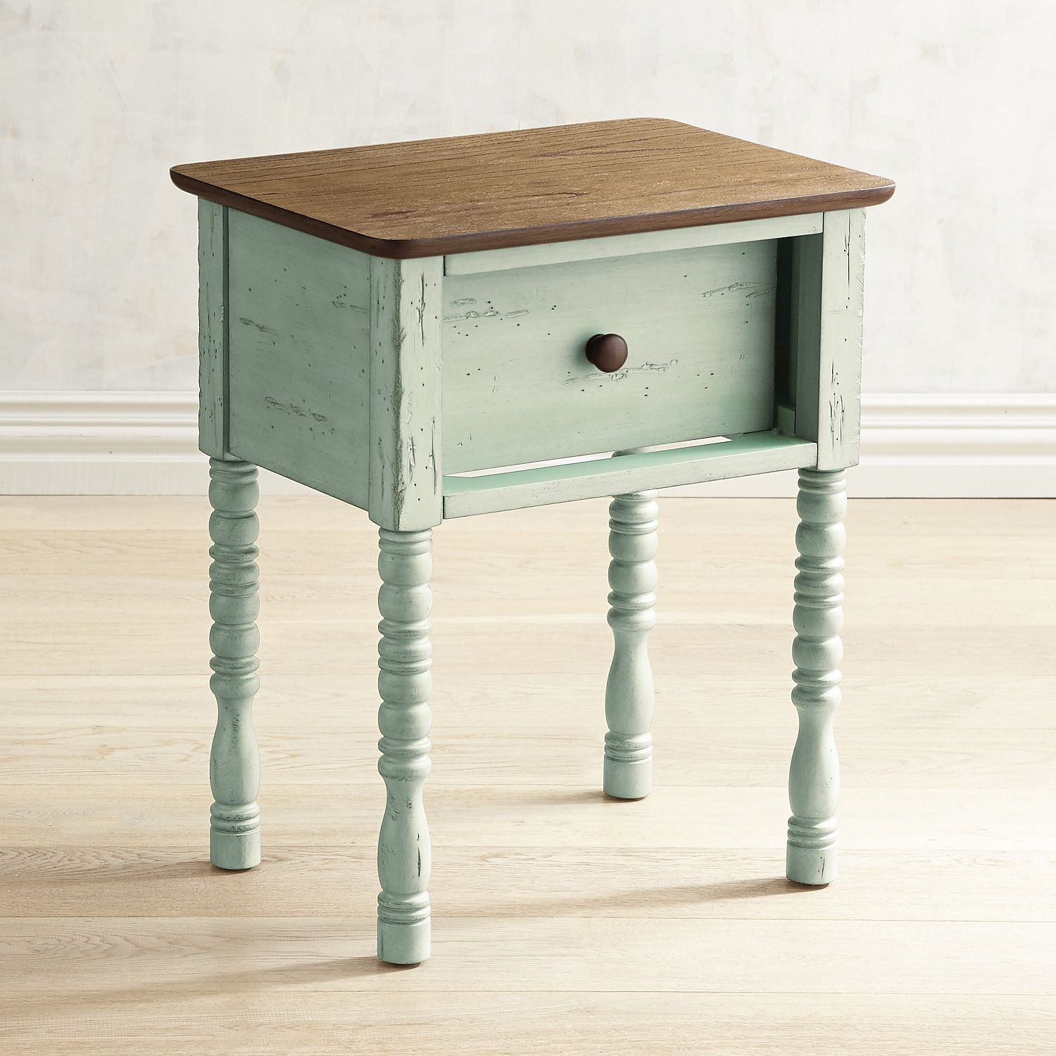 Haven Soft Green End Table Teal In 2019 End Tables Stained