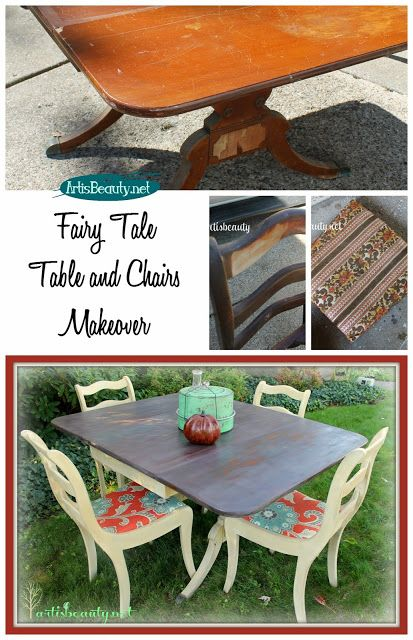 ART IS BEAUTY: Fairy tale Rescued Table and Chairs Makeover