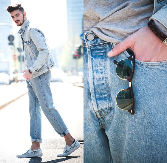 Get this look: http://lb.nu/look/7827562  More looks by Gian Maria Sainato: http://lb.nu/gian_maria_sainato  Items in this look:  Levi's® Levi's, Levi's® Levi's, Ray Ban Ray Ban, O.X.S.   #casual #street #vintage