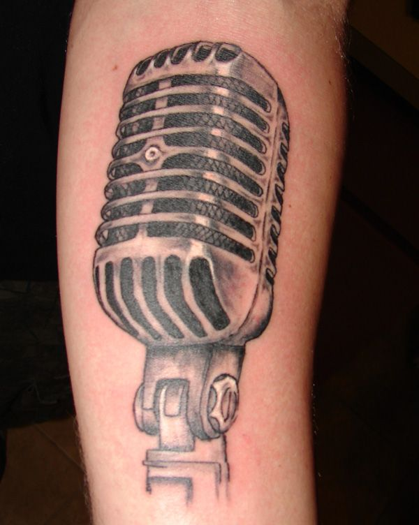 Retro Microphone By Tmtattooart On Deviantart Microphone Tattoo Music Tattoo Designs Music Tattoos