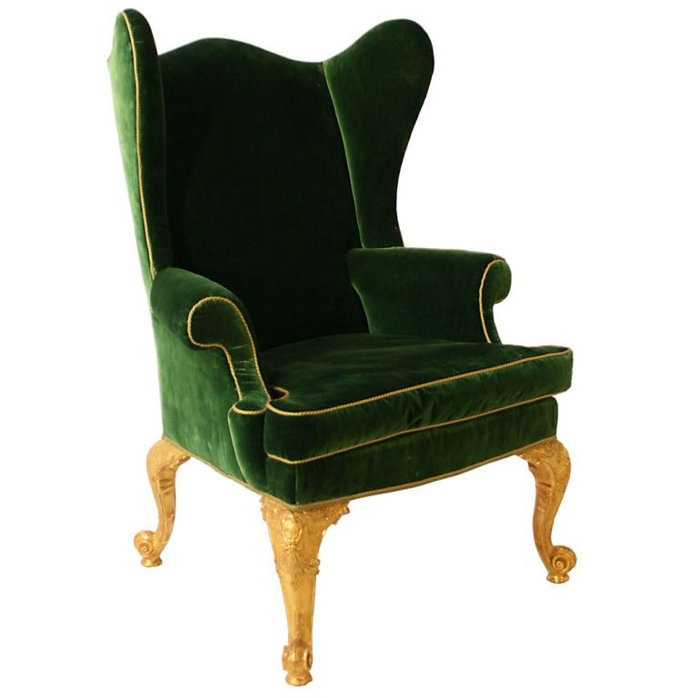George II Upholstered Wing Chair, England, Circa 1740