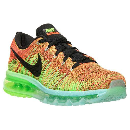 f3efd465869f Mens Nike Flyknit Air Max Hyper Crimson Black Electric Green 620469 ...
