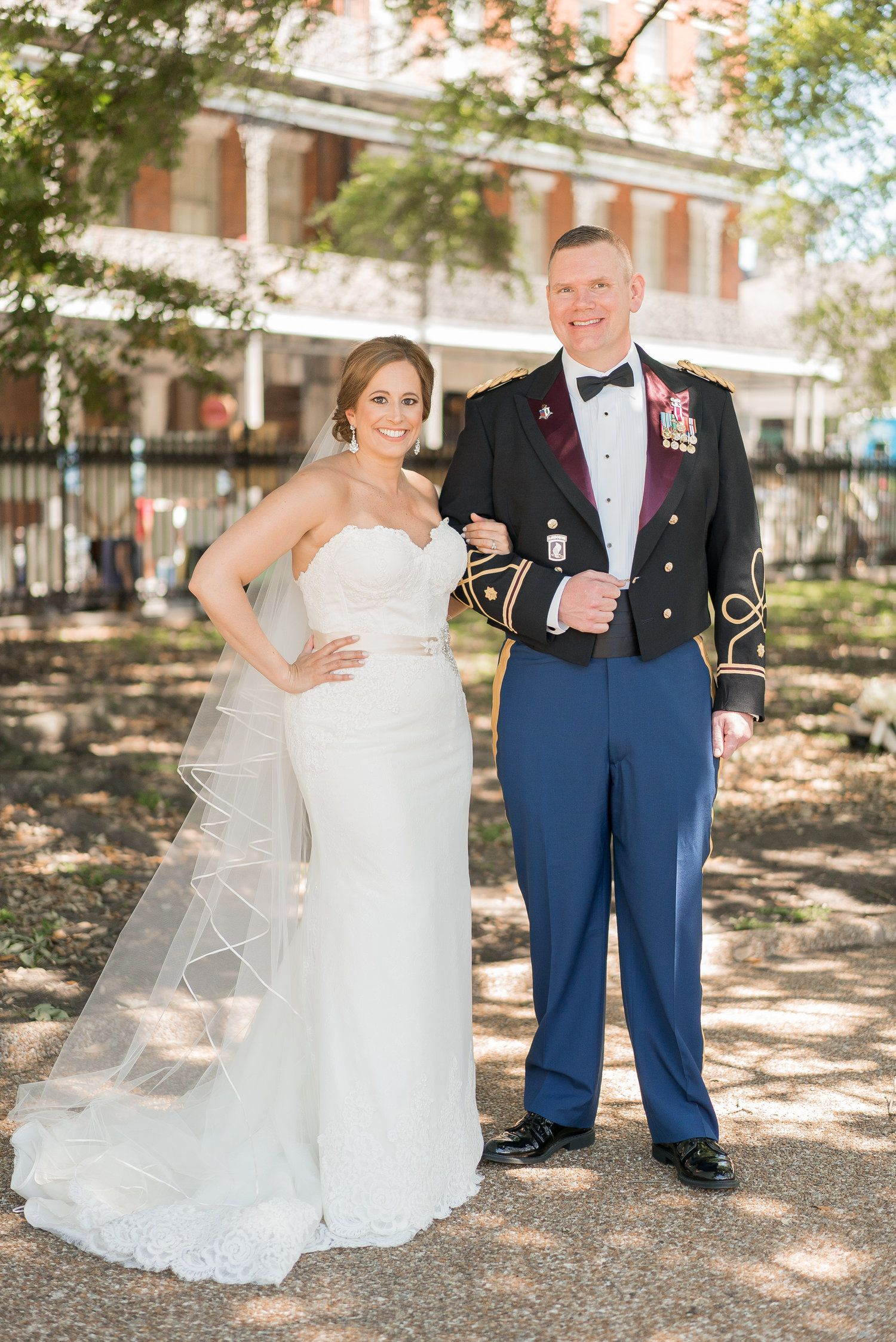 Wedding dress donations for military brides  A Navy  Gold New Orleans Military Wedding  Military Wedding