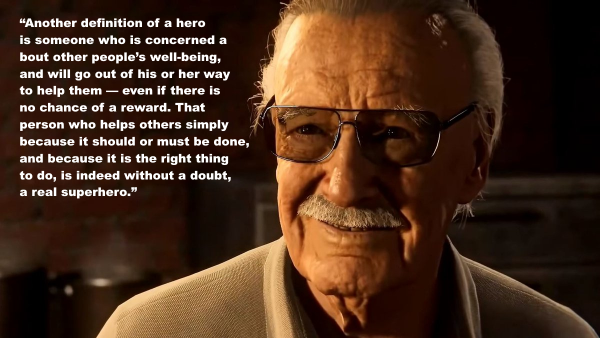 Sweatpants Pop Culture A Collection Of Quotes By Stan Lee Stan Lee Quotes Stan Lee Spiderman Ps4