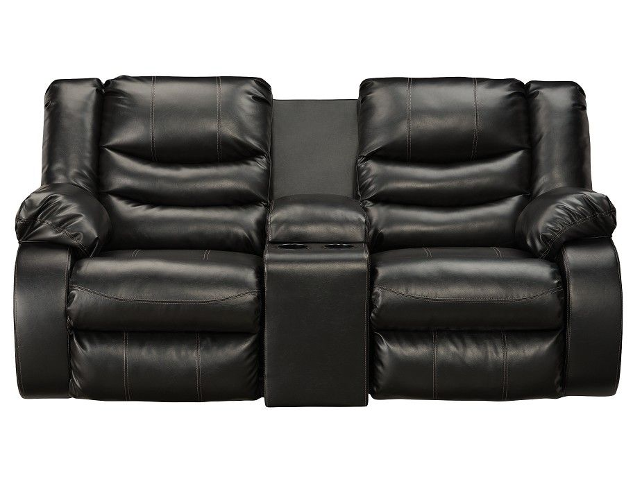 Magnificent Slumberland Northway Collection Black Console Loveseat Dailytribune Chair Design For Home Dailytribuneorg