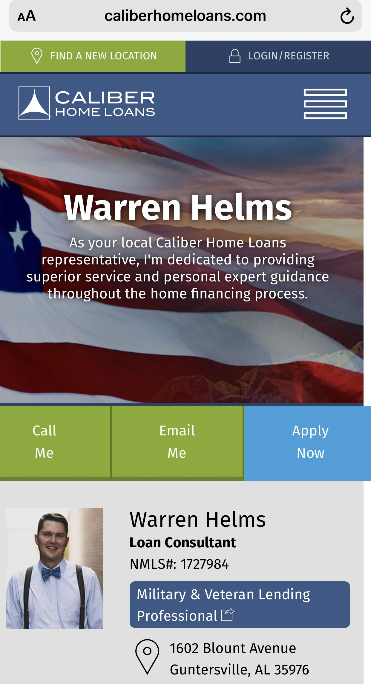 Warren Helms Is An Experienced Loan Officer And Va Specialist In
