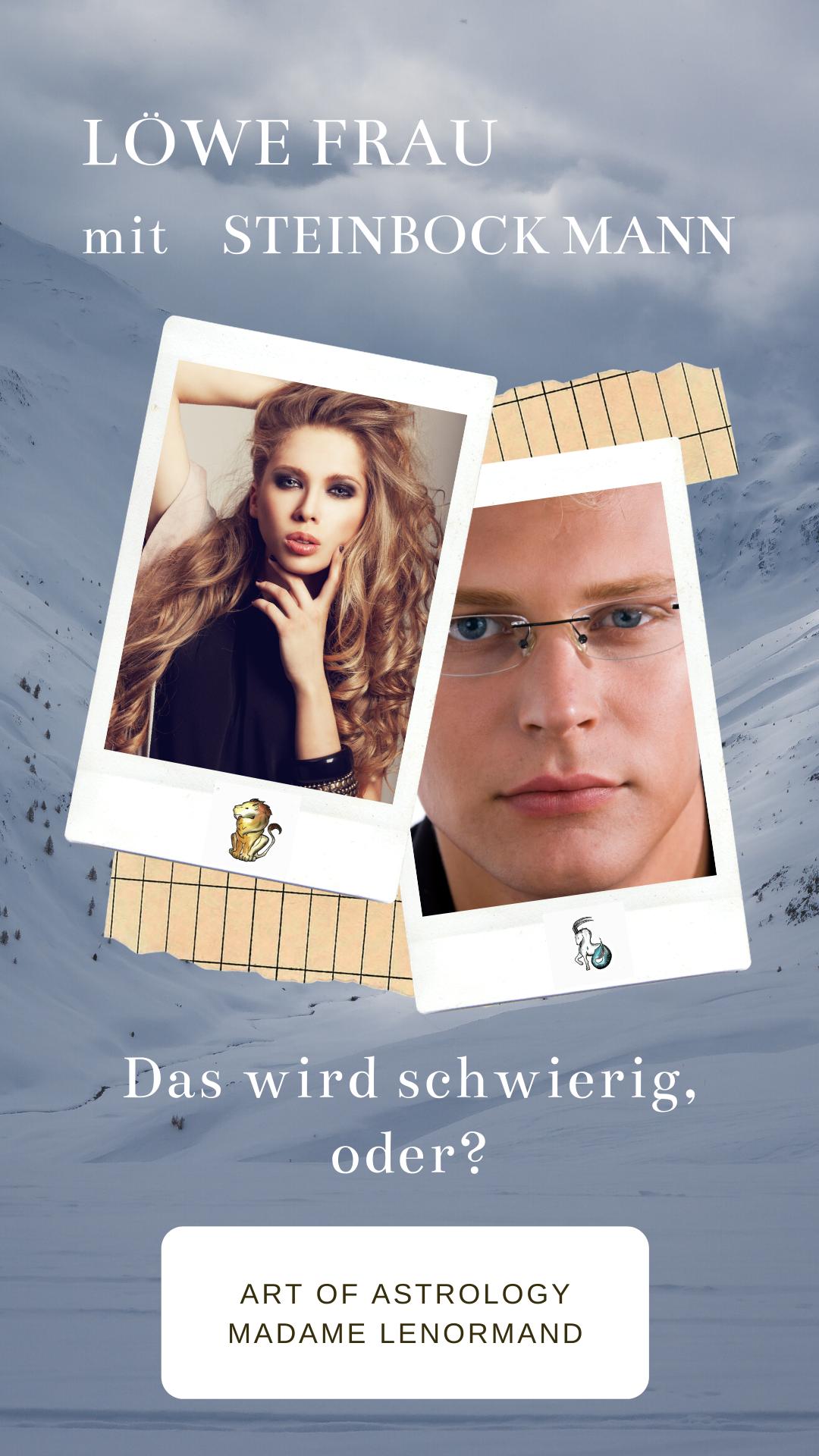 Steinbock-Mann & Löwe-Frau in 2020 | Löwe frau, Steinbock