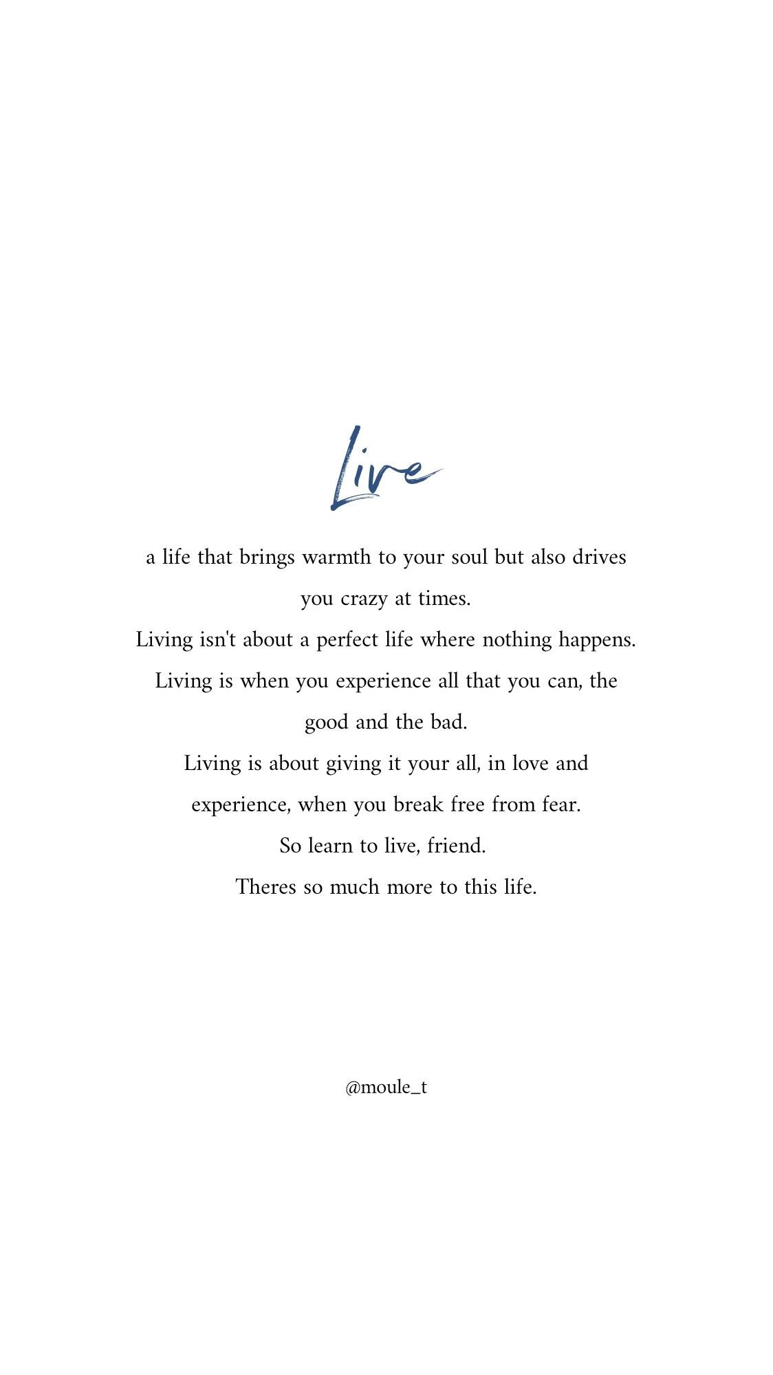 Live a life outside of fear