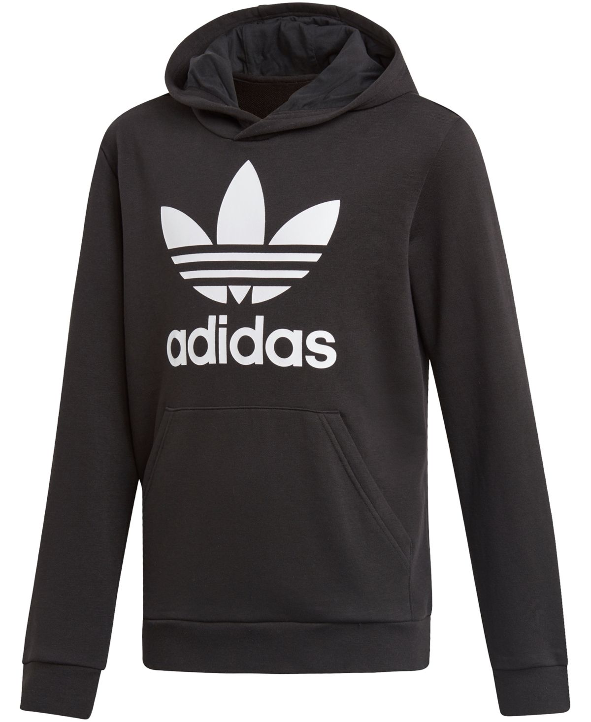 adidas Big Boys Logo Print French Terry Hoodie Vapour
