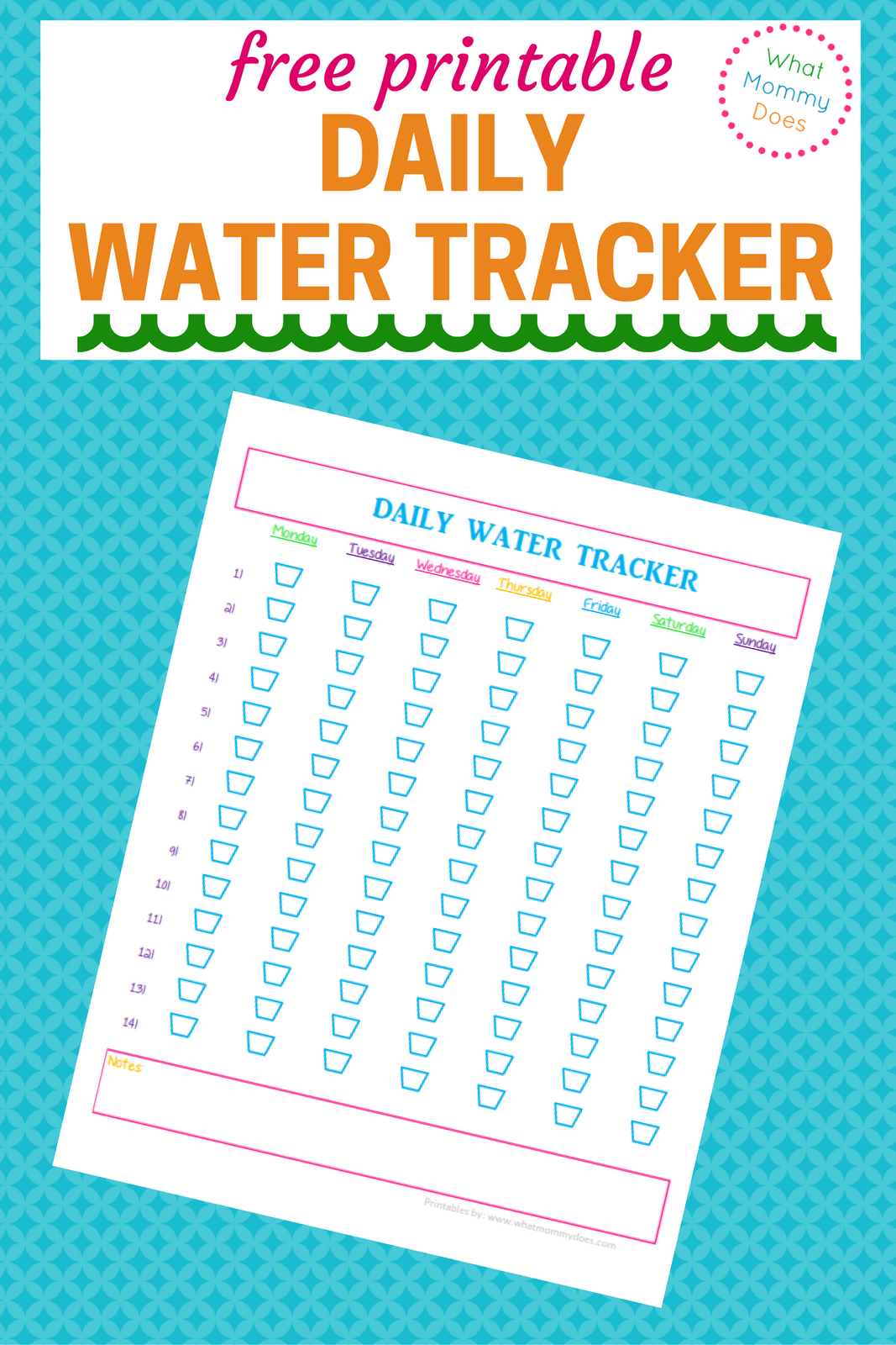 Free Printable Daily Water Tracker
