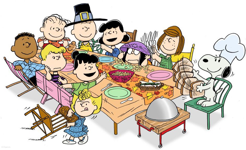 Image result for peanuts thanksgiving