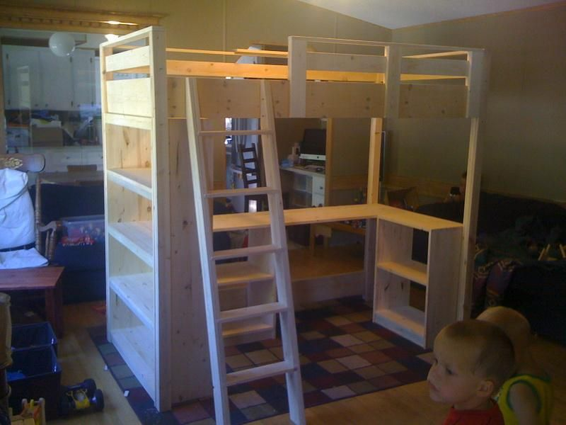 Building a Loft Bed for Kids | For the Home | Pinterest | Loft bed ...