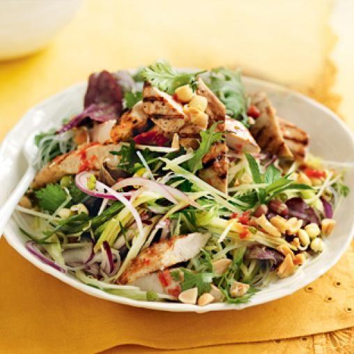 Chilli Chicken With Green Mango Salad Australian Healthy Food