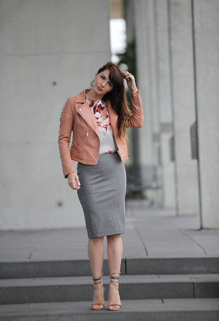 Street Style Ways to Wear the Midi Skirt | Skirts, Gray and Jackets