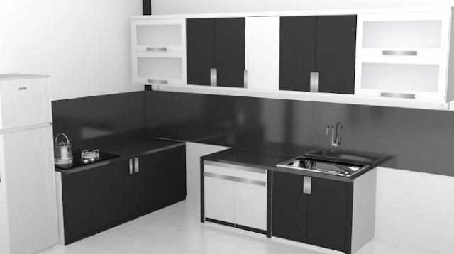 Kitchen Set Minimalis Modern Hitam Putih Desain Rumah Impian In