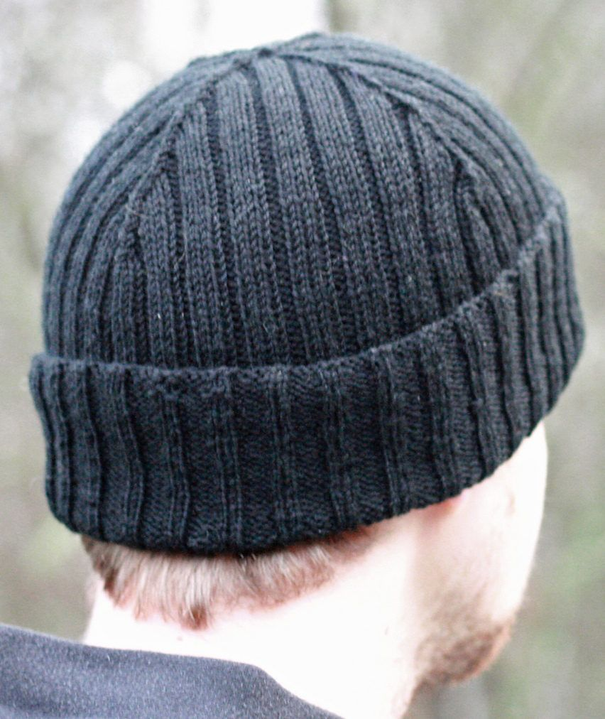 Free Knitting Pattern For Reversible Rib Cap Reversible Beanie With Decreases Designed To Showca Hat Knitting Patterns Mens Hat Knitting Pattern Knitted Hats